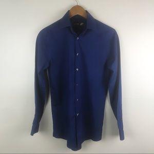 JF J.FERRAR Slim Fit Button Down Shirt Long Sleeve